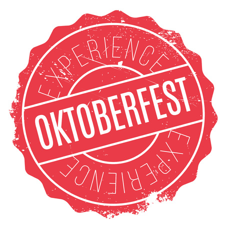 Oktoberfest rubber stamp. Grunge design with dust scratches. Effects can be easily removed for a clean, crisp look. Color is easily changed. Illustration