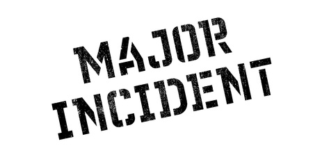 extensive: Major Incident rubber stamp. Grunge design with dust scratches. Effects can be easily removed for a clean, crisp look. Color is easily changed.