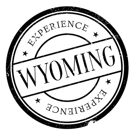 cody: Wyoming rubber stamp. Grunge design with dust scratches. Effects can be easily removed for a clean, crisp look. Color is easily changed.