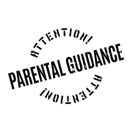 Szülői felügyelet gumi bélyegző. Grunge design por karcolásoktól. Hatások könnyen eltávolítható a tiszta, éles pillantást. Színes könnyen módosítható. Illusztráció