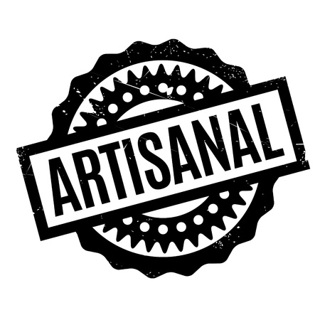 artisanal: Artisanal rubber stamp. Grunge design with dust scratches. Effects can be easily removed for a clean, crisp look. Color is easily changed. Illustration