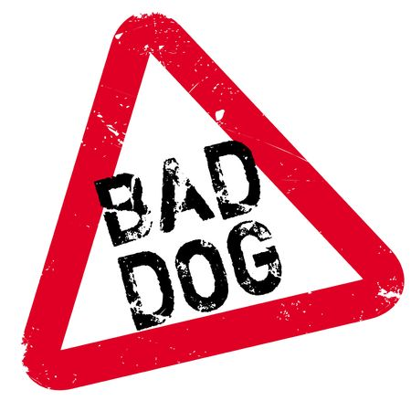 Bad Dog rubber stamp. Grunge design with dust scratches. Effects can be easily removed for a clean, crisp look. Color is easily changed.