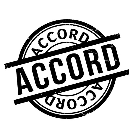 accordance: Accord rubber stamp. Grunge design with dust scratches. Effects can be easily removed for a clean, crisp look. Color is easily changed.