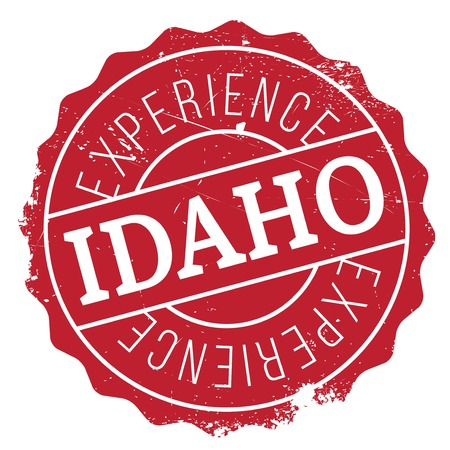 postmark: Idaho rubber stamp. Grunge design with dust scratches. Effects can be easily removed for a clean, crisp look. Color is easily changed.