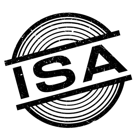 Isa rubber stamp. Grunge design with dust scratches. Effects can be easily removed for a clean, crisp look. Color is easily changed.