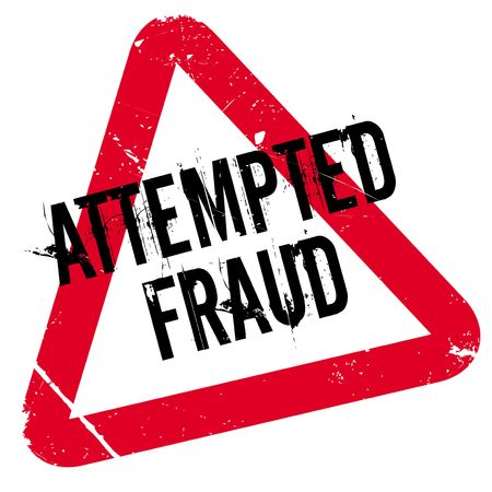Attempted Fraud rubber stamp. Grunge design with dust scratches. Effects can be easily removed for a clean, crisp look. Color is easily changed.