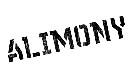 marital: Alimony rubber stamp. Grunge design with dust scratches. Effects can be easily removed for a clean, crisp look. Color is easily changed. Illustration