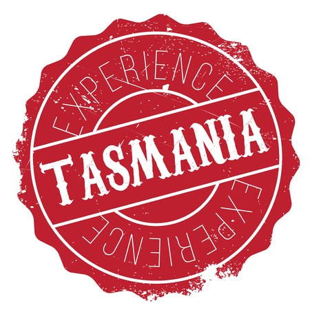 perth: Tasmania rubber stamp. Grunge design with dust scratches. Effects can be easily removed for a clean, crisp look. Color is easily changed. Illustration