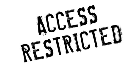 limited access: Access Restricted rubber stamp. Grunge design with dust scratches. Effects can be easily removed for a clean, crisp look. Color is easily changed.