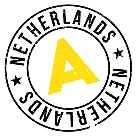 transnational: Netherlands rubber stamp. Grunge design with dust scratches. Effects can be easily removed for a clean, crisp look. Color is easily changed.