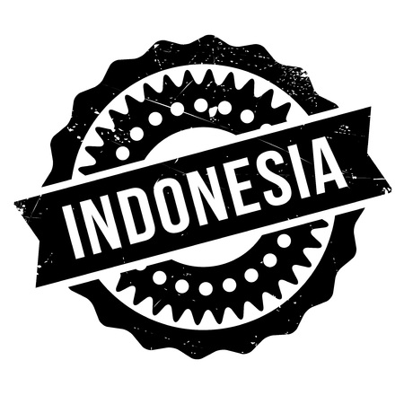 oceana: Indonesia rubber stamp. Grunge design with dust scratches. Effects can be easily removed for a clean, crisp look. Color is easily changed.