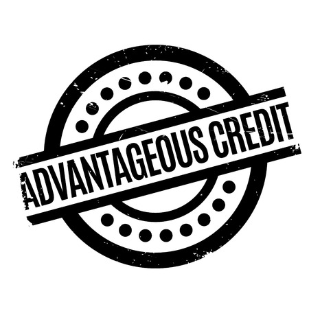 auspicious: Advantageous Credit rubber stamp. Grunge design with dust scratches. Effects can be easily removed for a clean, crisp look. Color is easily changed. Illustration