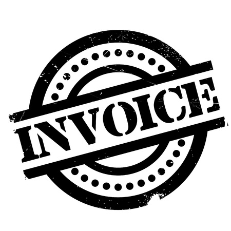 receivable: Invoice rubber stamp. Grunge design with dust scratches. Effects can be easily removed for a clean, crisp look. Color is easily changed.