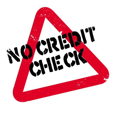 No Credit Check rubber stamp. Grunge design with dust scratches. Effects can be easily removed for a clean, crisp look. Color is easily changed.