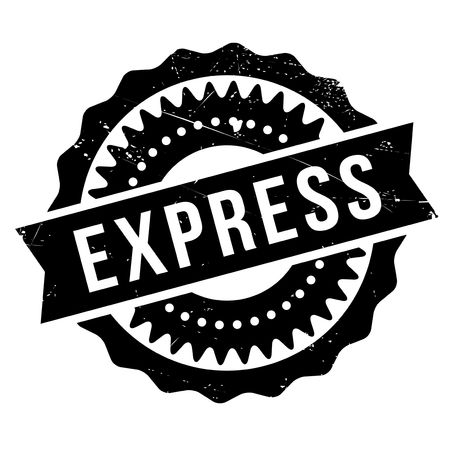 Express stamp. Grunge design with dust scratches. Effects can be easily removed for a clean, crisp look. Color is easily changed.