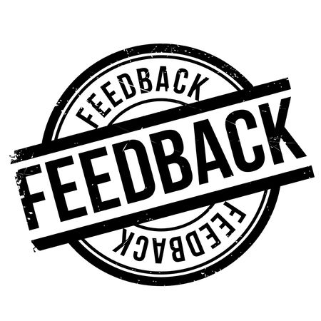 Feedback stamp. Grunge design with dust scratches. Effects can be easily removed for a clean, crisp look. Color is easily changed. Illustration