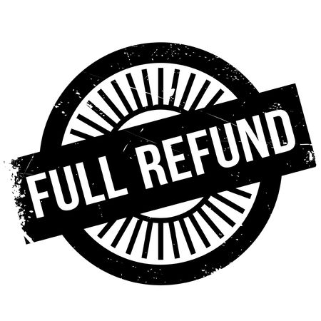 Full refund stamp. Grunge design with dust scratches. Effects can be easily removed for a clean, crisp look. Color is easily changed. Illustration