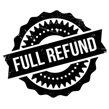 remuneration: Full refund stamp. Grunge design with dust scratches. Effects can be easily removed for a clean, crisp look. Color is easily changed. Illustration