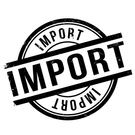 Import stamp. Grunge design with dust scratches. Effects can be easily removed for a clean, crisp look. Color is easily changed. Illustration