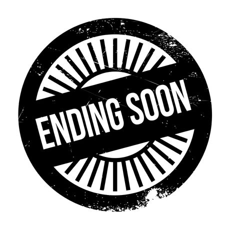 finale: Ending soon stamp. Grunge design with dust scratches. Effects can be easily removed for a clean, crisp look. Color is easily changed.