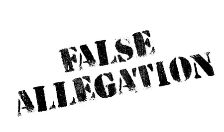allegation: False Allegation rubber stamp. Grunge design with dust scratches. Effects can be easily removed for a clean, crisp look. Color is easily changed. Illustration