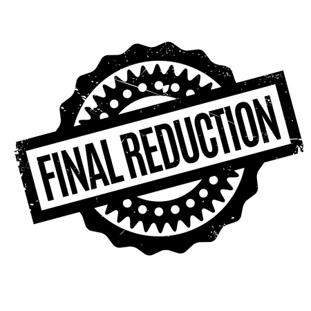 e commerce: Final Reduction rubber stamp. Grunge design with dust scratches. Effects can be easily removed for a clean, crisp look. Color is easily changed.