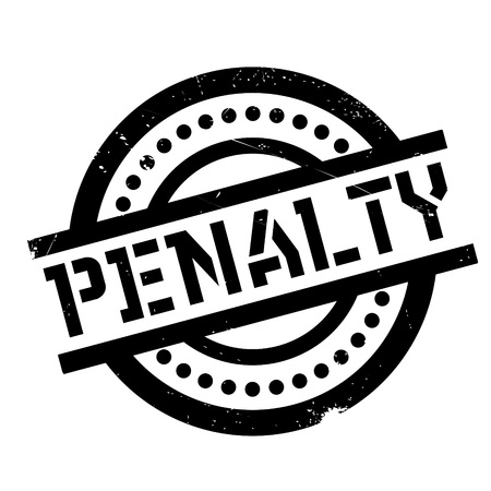Penalty rubber stamp. Grunge design with dust scratches. Effects can be easily removed for a clean, crisp look. Color is easily changed. Illustration