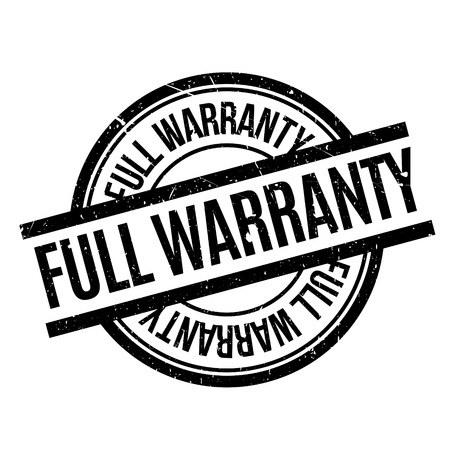 surety: Full Warranty rubber stamp. Grunge design with dust scratches. Effects can be easily removed for a clean, crisp look. Color is easily changed.