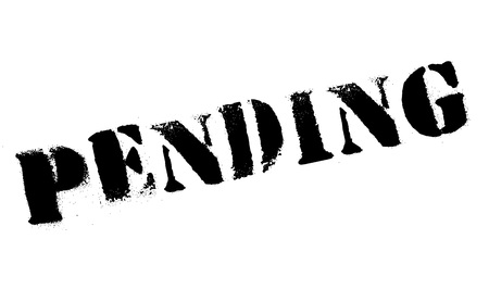 forthcoming: Pending rubber stamp. Grunge design with dust scratches. Effects can be easily removed for a clean, crisp look. Color is easily changed.