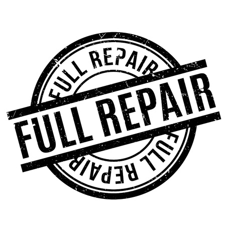settle back: Full Repair rubber stamp. Grunge design with dust scratches. Effects can be easily removed for a clean, crisp look. Color is easily changed. Illustration