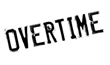 hectic: Overtime rubber stamp. Grunge design with dust scratches. Effects can be easily removed for a clean, crisp look. Color is easily changed.