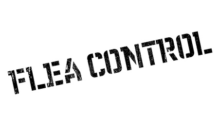 pest control: Flea Control rubber stamp. Grunge design with dust scratches. Effects can be easily removed for a clean, crisp look. Color is easily changed. Illustration