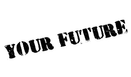 forthcoming: Your Future rubber stamp. Grunge design with dust scratches. Effects can be easily removed for a clean, crisp look. Color is easily changed.