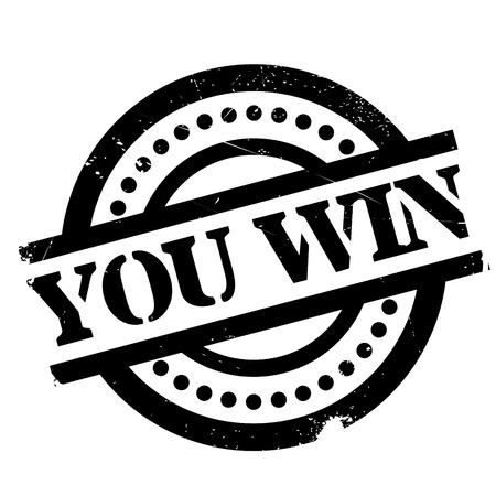 scored: You Win rubber stamp. Grunge design with dust scratches. Effects can be easily removed for a clean, crisp look. Color is easily changed.