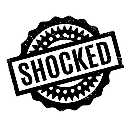 bombshell: Shocked rubber stamp. Grunge design with dust scratches. Effects can be easily removed for a clean, crisp look. Color is easily changed.