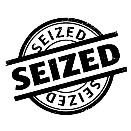 seized: Seized rubber stamp. Grunge design with dust scratches. Effects can be easily removed for a clean, crisp look. Color is easily changed. Illustration