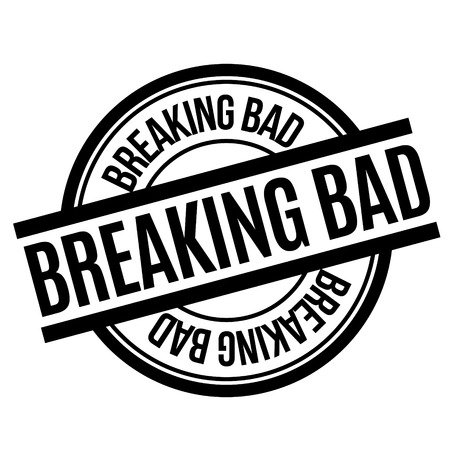 Breaking Bad rubber stamp. Grunge design with dust scratches. Effects can be easily removed for a clean, crisp look. Color is easily changed. Illustration