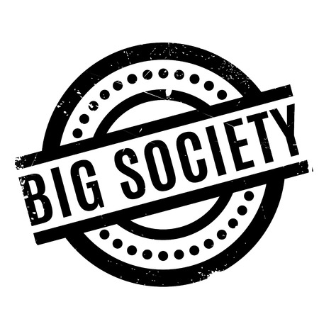 Big Society rubber stamp. Grunge design with dust scratches. Effects can be easily removed for a clean, crisp look. Color is easily changed.
