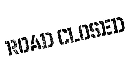 not open: Road Closed rubber stamp. Grunge design with dust scratches. Effects can be easily removed for a clean, crisp look. Color is easily changed.