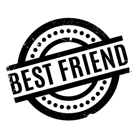 Best Friend rubber stamp. Grunge design with dust scratches. Effects can be easily removed for a clean, crisp look. Color is easily changed.