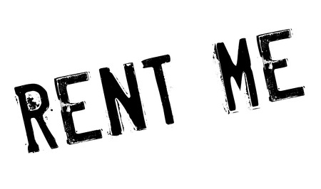 Rent Me rubber stamp. Grunge design with dust scratches. Effects can be easily removed for a clean, crisp look. Color is easily changed.
