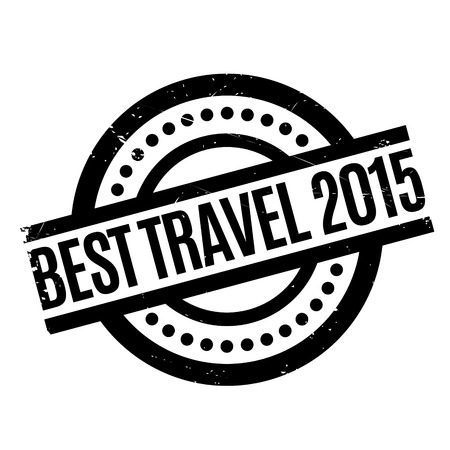 Best Travel 2015 rubber stamp. Grunge design with dust scratches. Effects can be easily removed for a clean, crisp look. Color is easily changed.