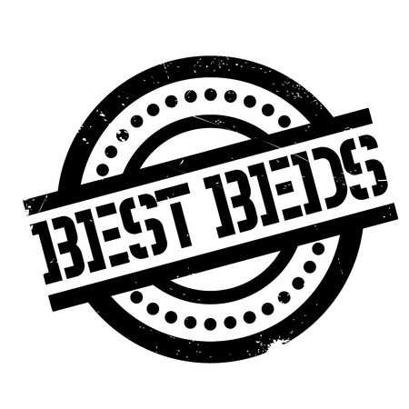 inimitable: Best Beds rubber stamp. Grunge design with dust scratches. Effects can be easily removed for a clean, crisp look. Color is easily changed.