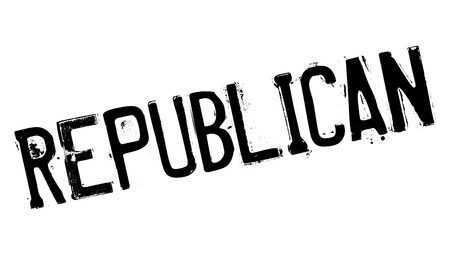 Republican rubber stamp. Grunge design with dust scratches. Effects can be easily removed for a clean, crisp look. Color is easily changed.