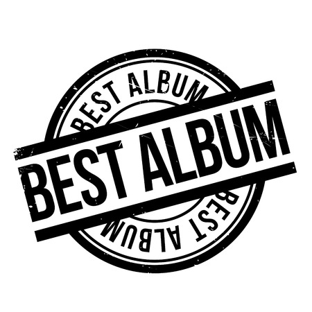 preeminent: Best Album rubber stamp. Grunge design with dust scratches. Effects can be easily removed for a clean, crisp look. Color is easily changed. Illustration