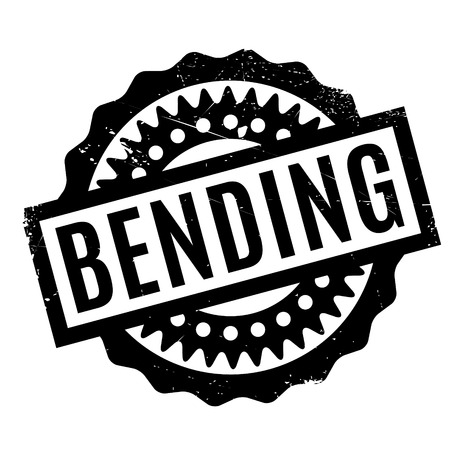 bendable: Bending rubber stamp. Grunge design with dust scratches. Effects can be easily removed for a clean, crisp look. Color is easily changed. Illustration