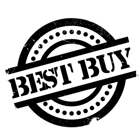 Best Buy rubber stamp. Grunge design with dust scratches. Effects can be easily removed for a clean, crisp look. Color is easily changed.