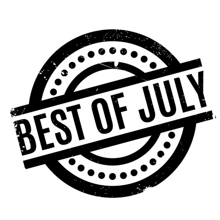 Best Of July rubber stamp. Grunge design with dust scratches. Effects can be easily removed for a clean, crisp look. Color is easily changed.