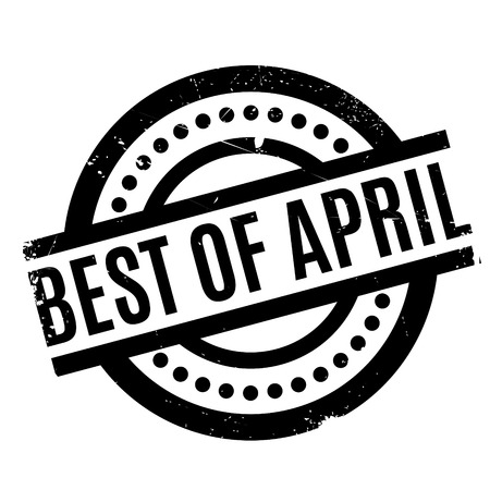 Best Of April rubber stamp. Grunge design with dust scratches. Effects can be easily removed for a clean, crisp look. Color is easily changed.