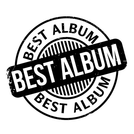superlative: Best Album rubber stamp. Grunge design with dust scratches. Effects can be easily removed for a clean, crisp look. Color is easily changed. Illustration
